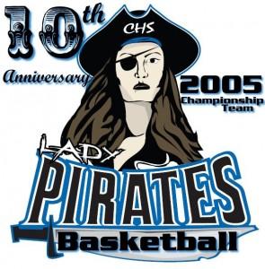 LadyPirateBasketball2005anniversaryLogo